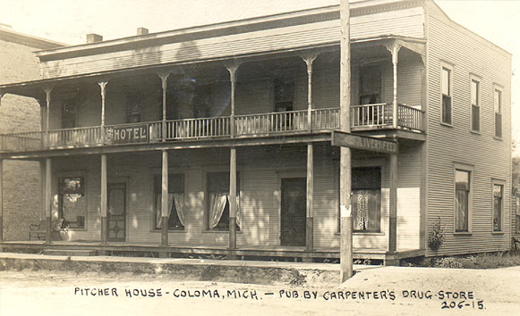 Pitcher House Hotel, Coloma, Michigan